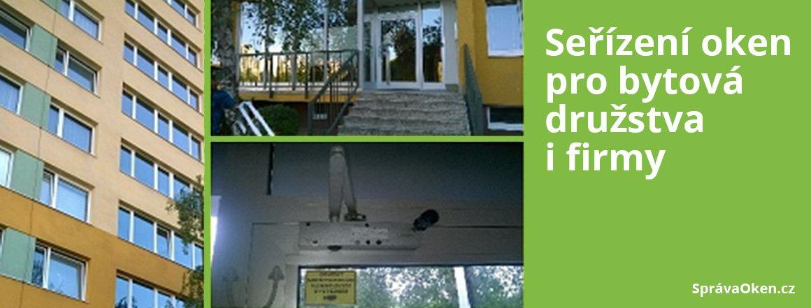 Seřízení oken pro bytová družstva a firmy