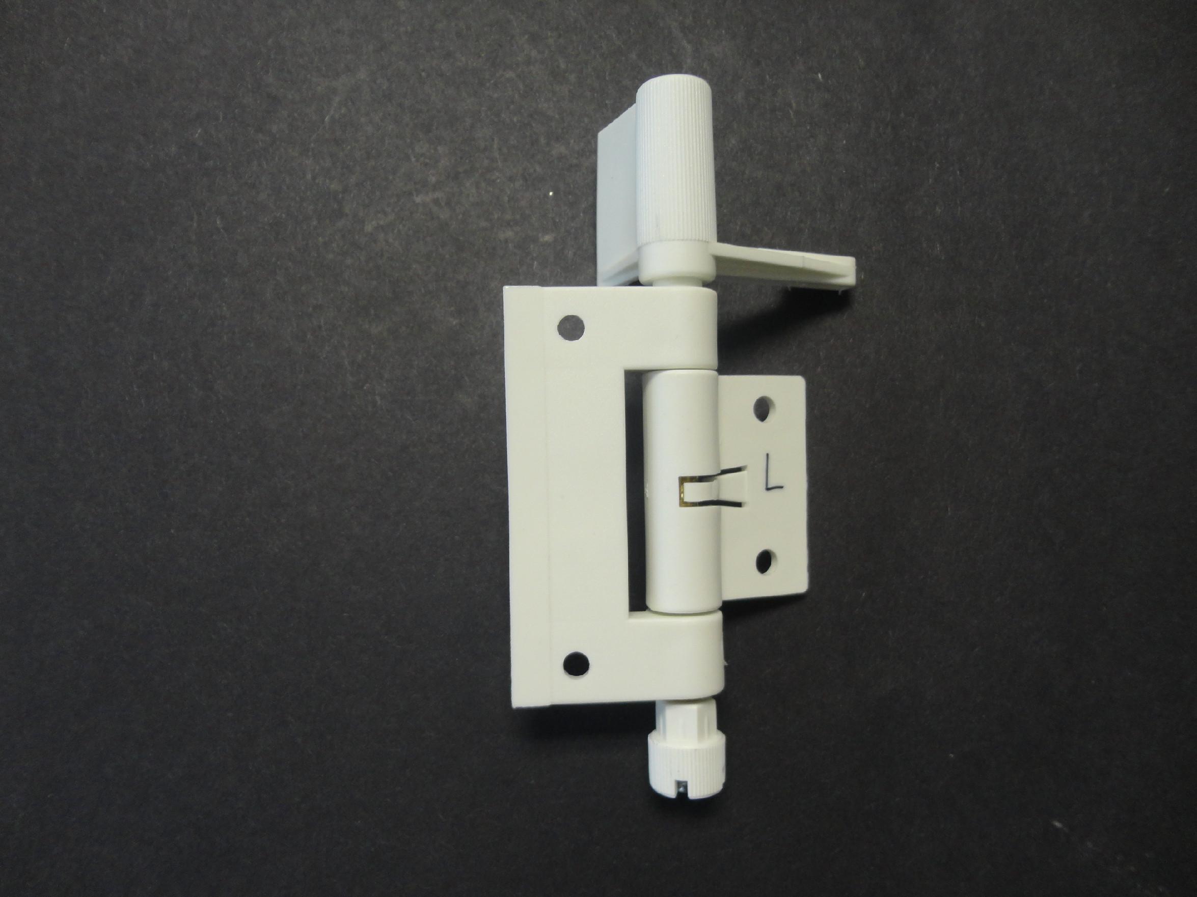Samozavírací pant pro síťový rám 28x30mm Barva: Bílá, Provedení: Levé