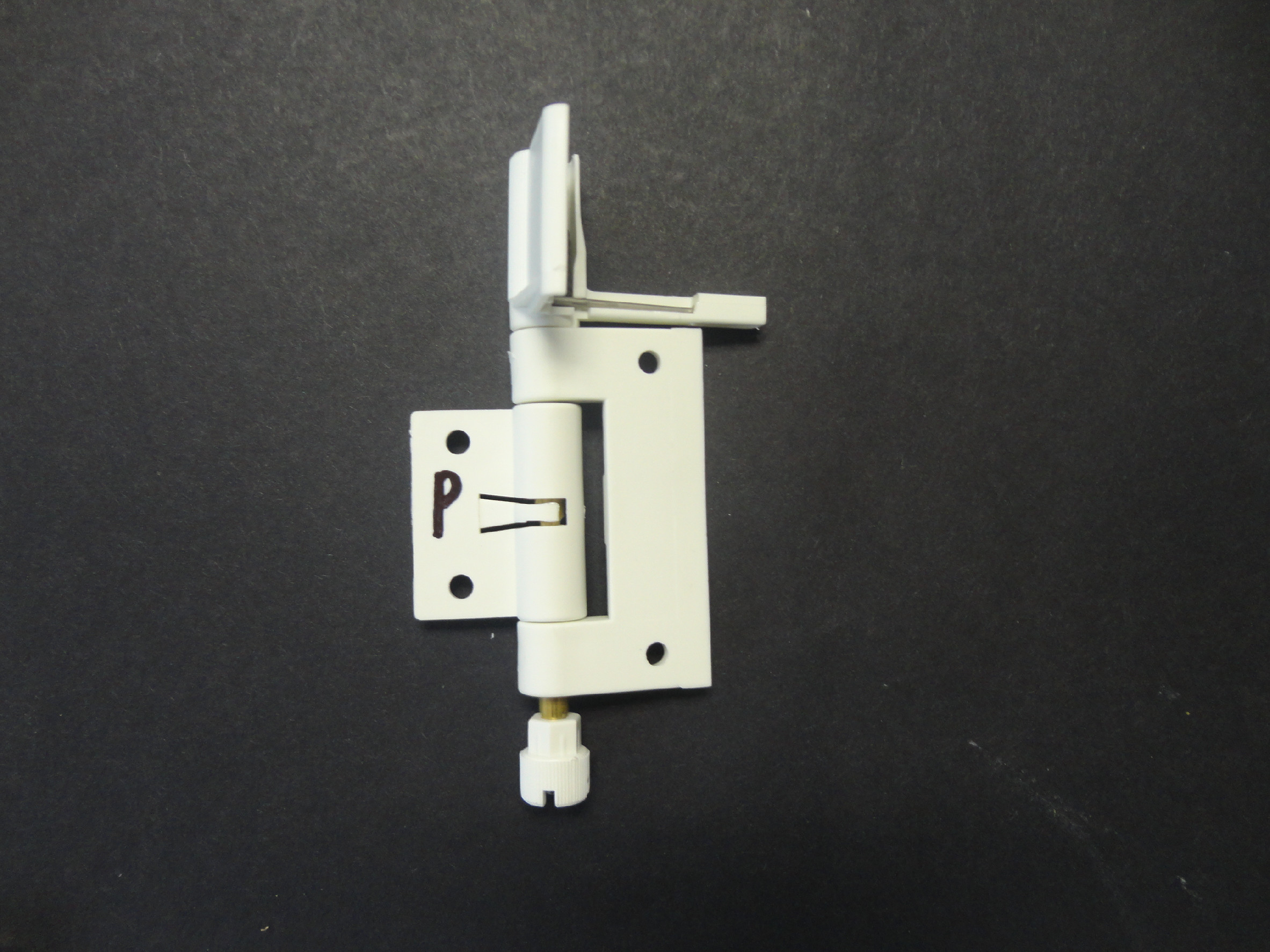 Samozavírací pant pro síťový rám 28x30mm Barva: Bílá, Provedení: Pravé