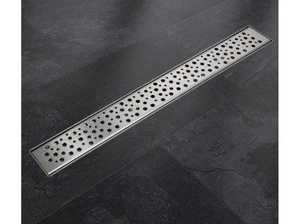 Sprchový podlahový žľab 140 cm - dierky