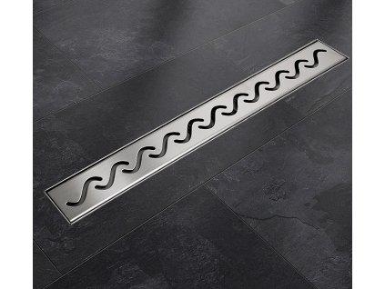 Sprchový podlahový žľab 140 cm - vlnky