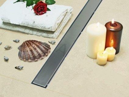 Sprchový podlahový žľab 120 cm - hladký 120M05