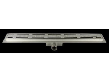 Sprchový podlahový žľab 50 cm - čiary 50M06