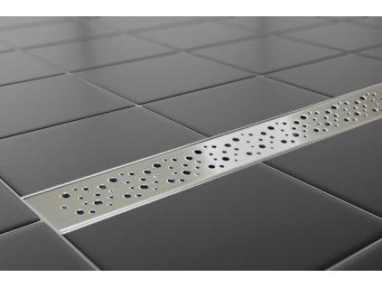 Sprchový podlahový žľab 50 cm - dierky 50M02