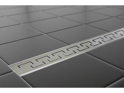 Sprchový podlahový žľab 50 cm - greek