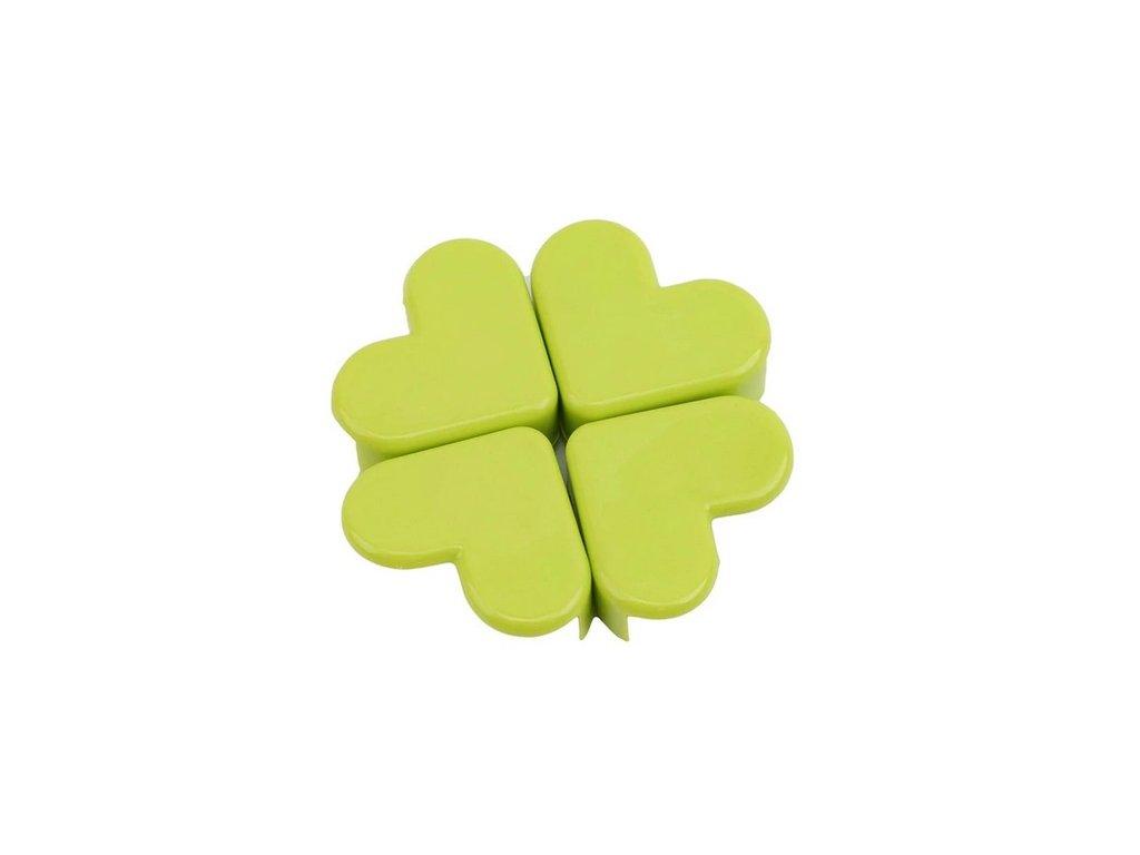 Chrániče rohů PLASTIC srdce zelené