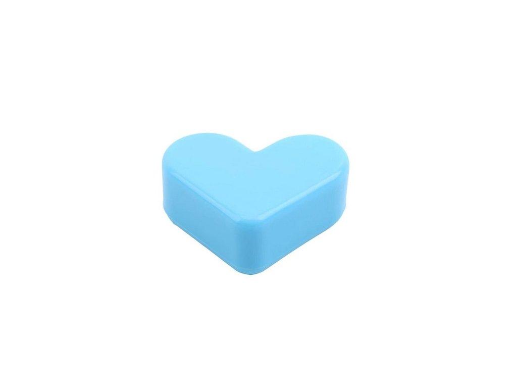 Chrániče rohů PLASTIC srdce modré