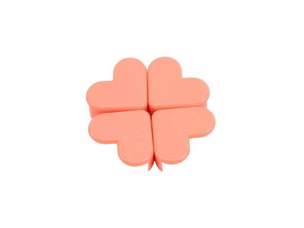 Chrániče rohů PLASTIC srdce meruńkové