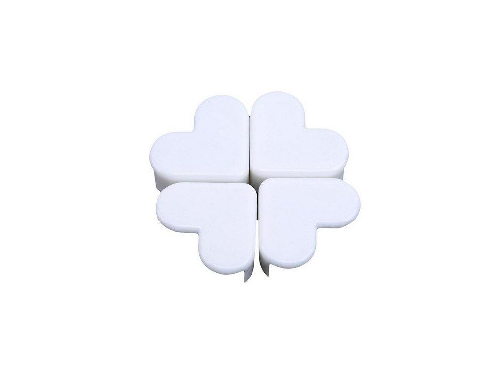 Chrániče rohů PLASTIC srdce bílé