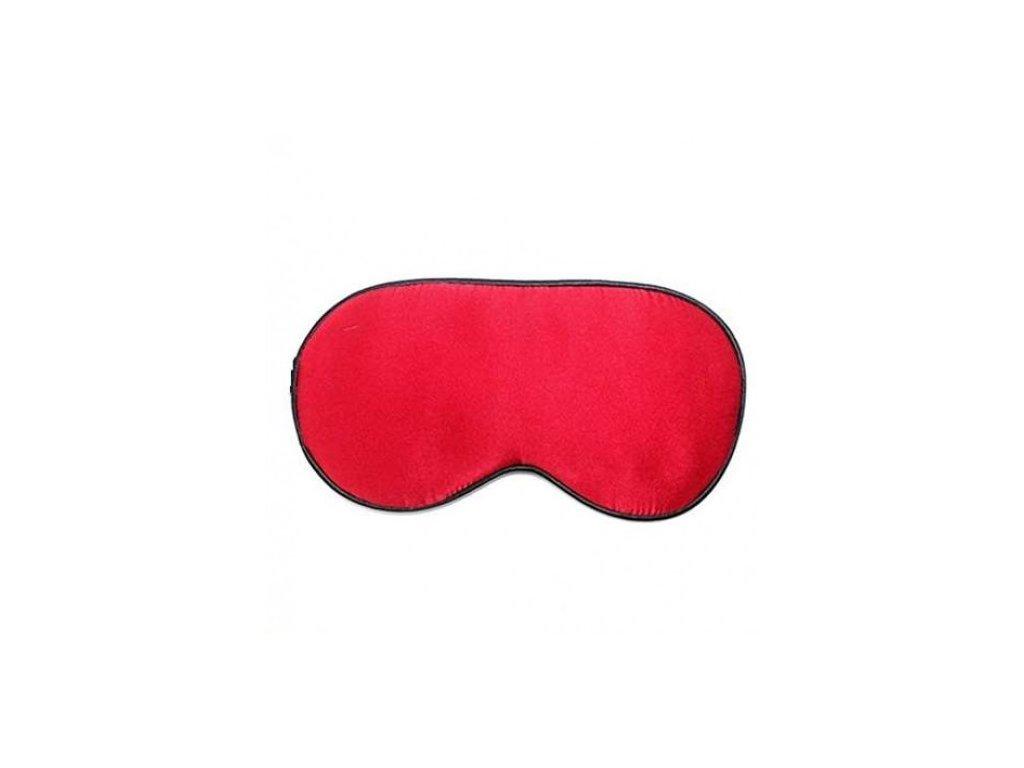 Maska na spaní hedvábná - Červená  Maska Silk červená