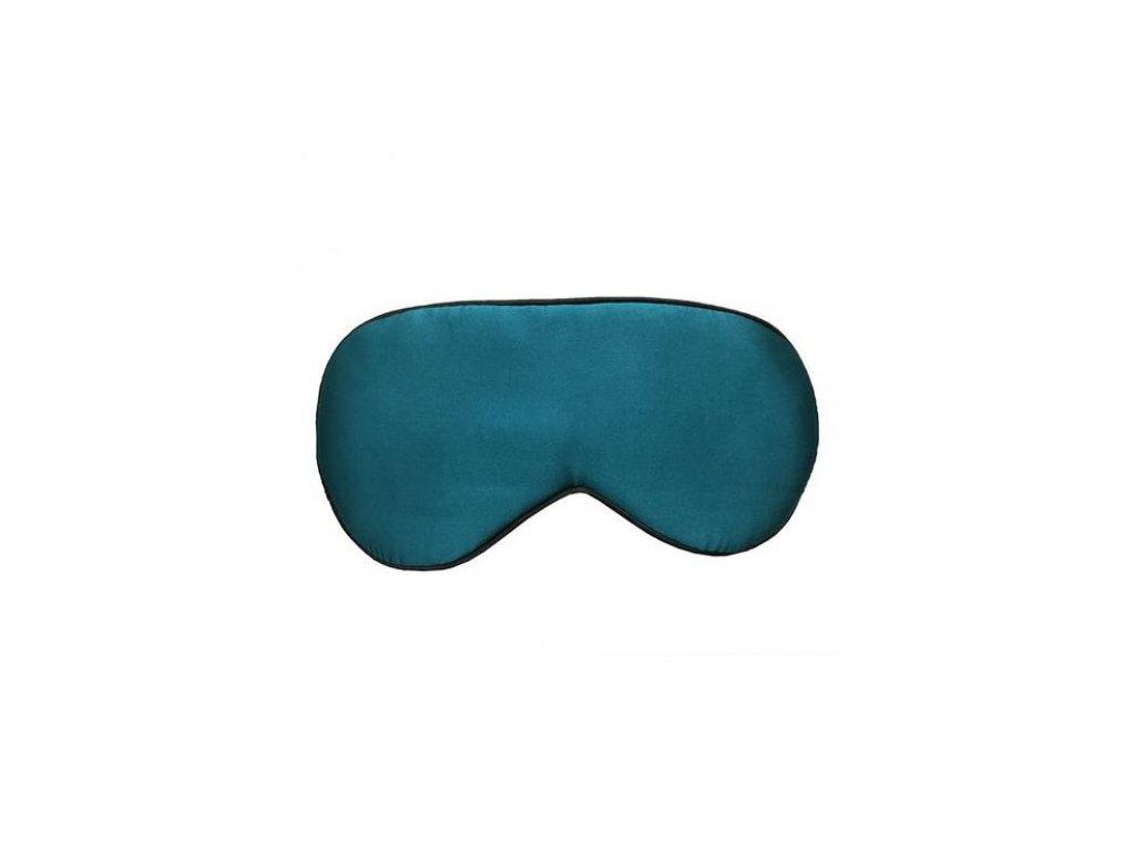 Maska na spaní hedvábná - Tmavě zelená  Maska Silk Tm. zelená