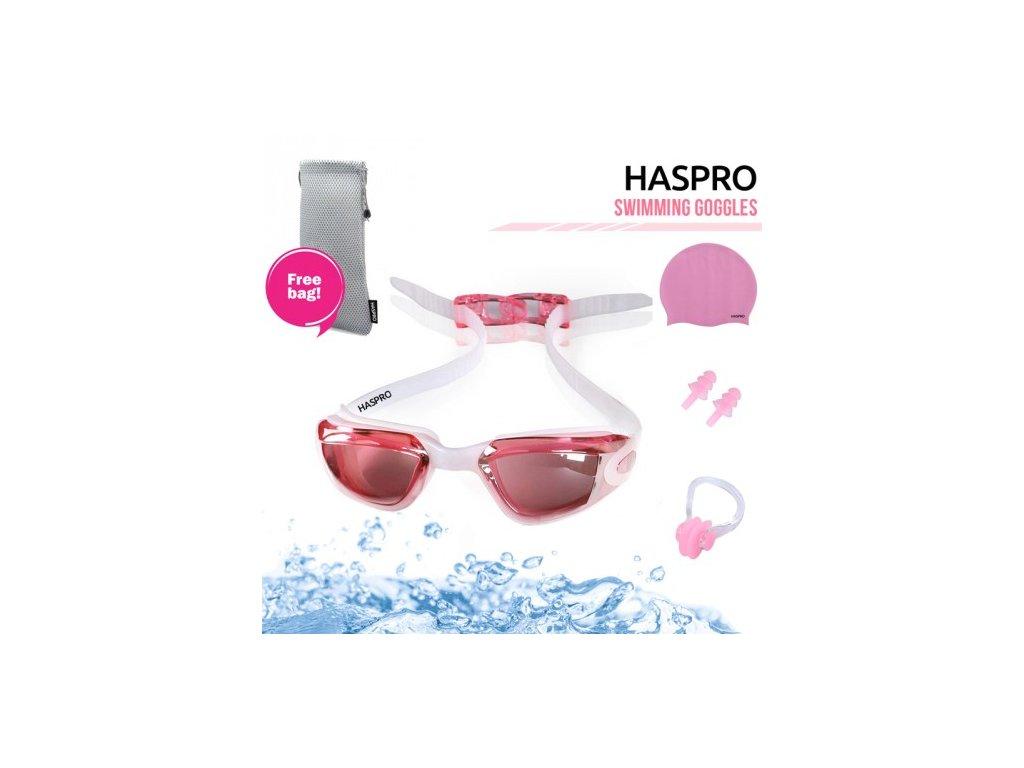 Haspro dětská plavecká sada - růžová  Haspro dívčí sada růžová