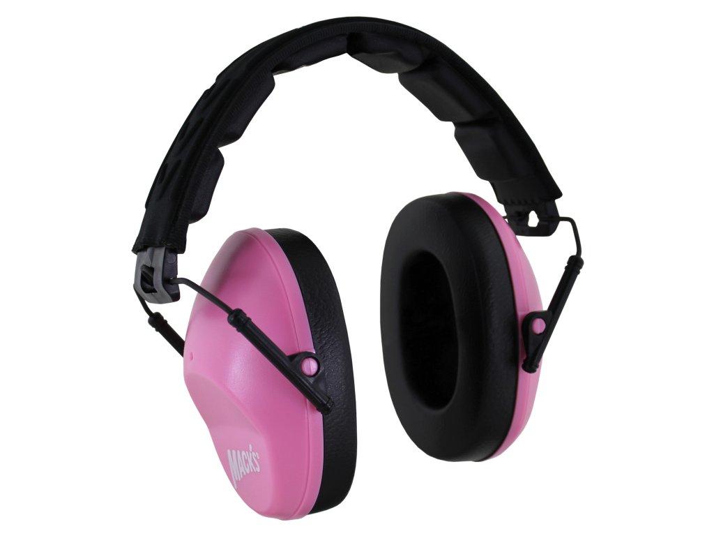 pink earmuffs macks chranice sluchu