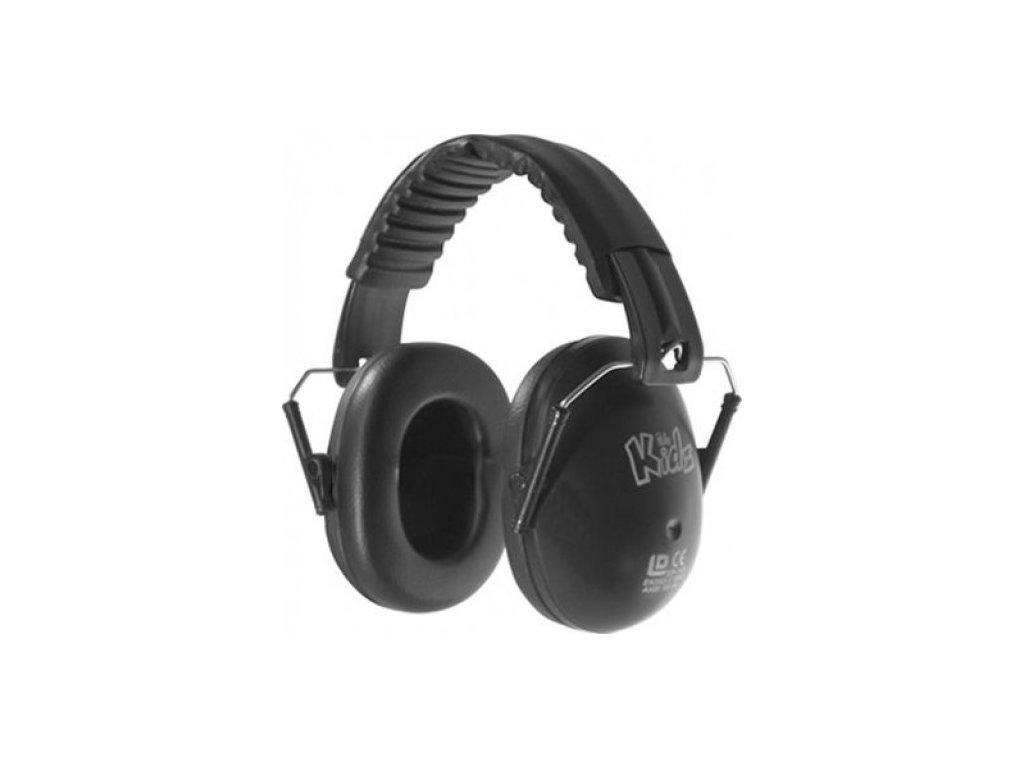 Dětské chrániče sluchu Edz Kidz - černé  Sluchátka EdzKidz - černé