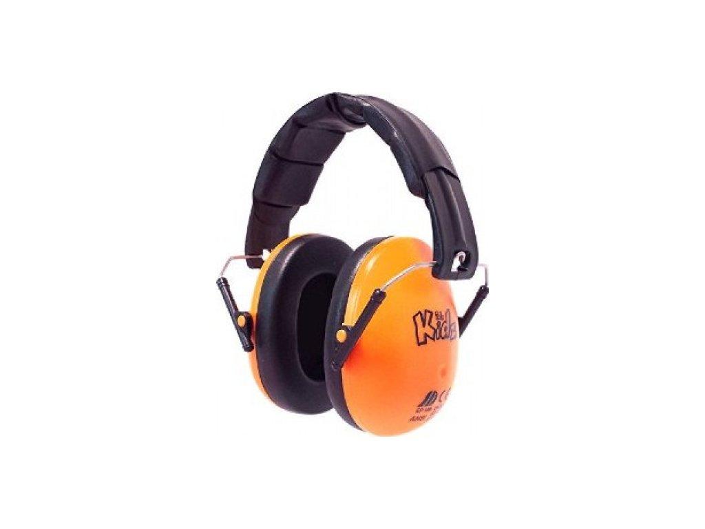 Dětské chrániče sluchu Edz Kidz - oranžové  Sluchátka EdzKidz - oranžová