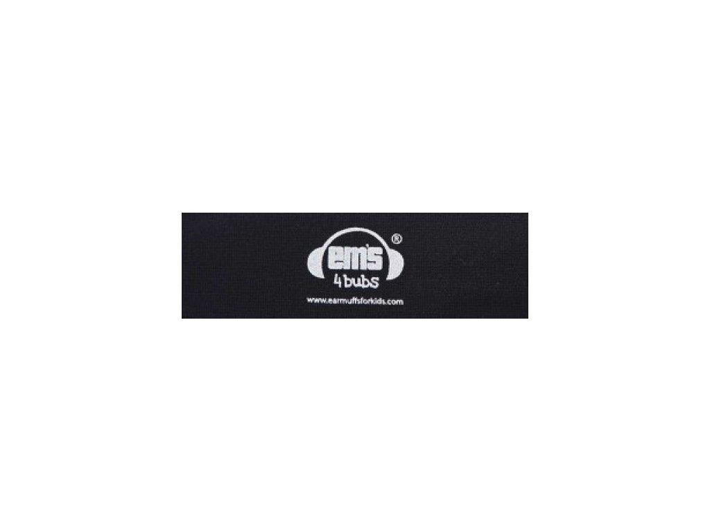 Čelenka k chráničům sluchu pro batolata - černá  Ems čelenka černá