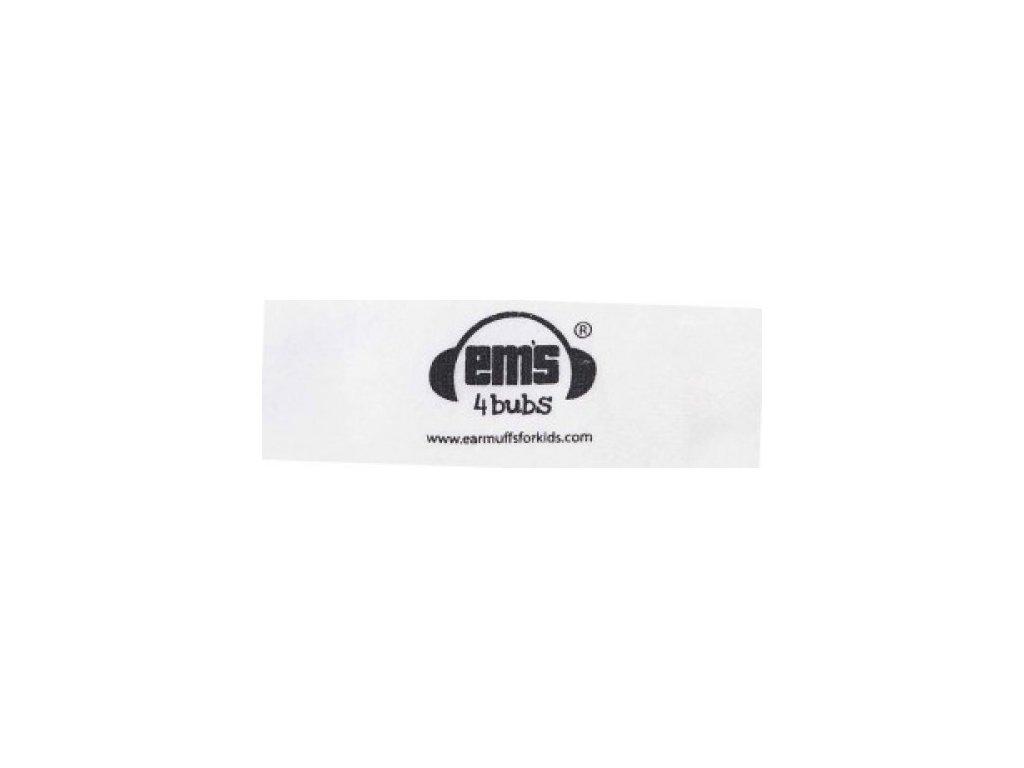 Čelenka k chráničům sluchu pro batolata - bílá  Ems čelenka bílá