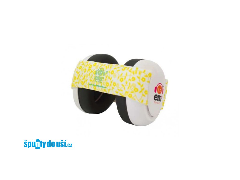 Em's 4 Bubs - chrániče sluchu pro batolata žlutá/bílá  Eds bílo - žluté