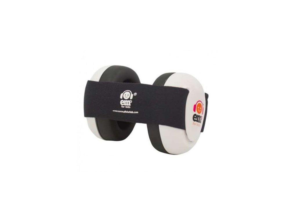 Em's 4 Bubs - chrániče sluchu pro batolata  bílá - černá  Ems bílo - černé