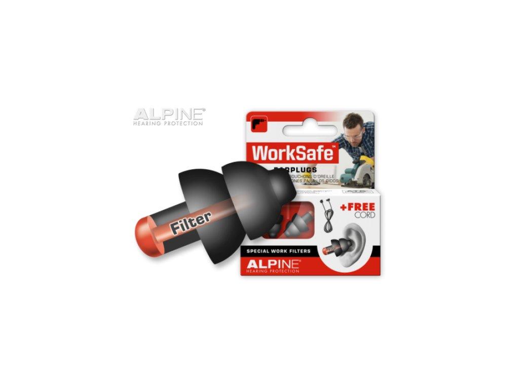 Alpine WorkSafe špunty do uší proti hluku  Alpine WorkSafe