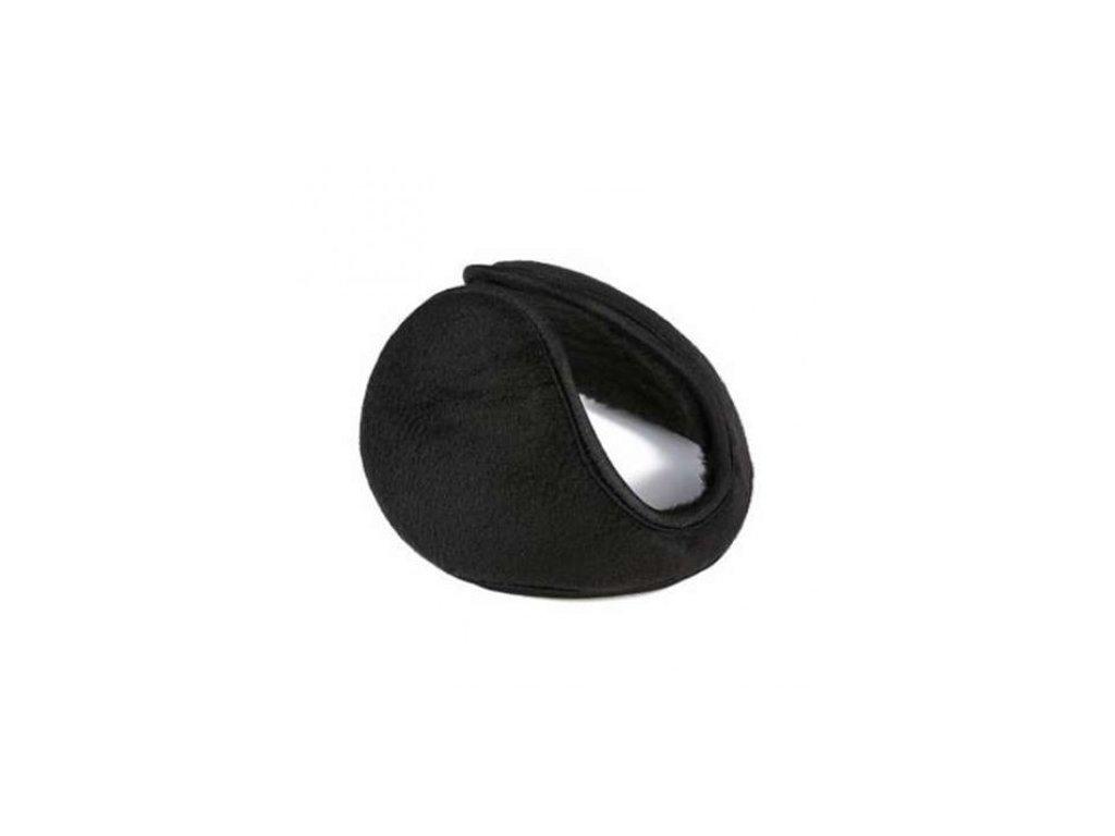 Zimní klapky na uši - černé  Klapky na uši černé