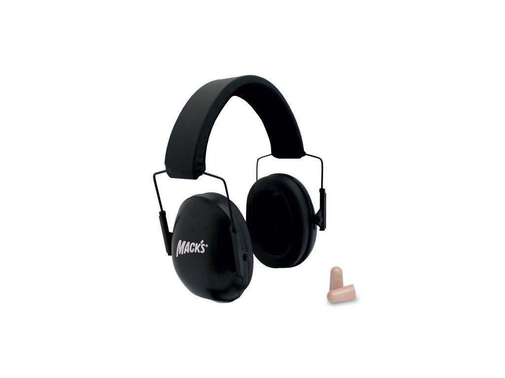 Mack's chrániče sluchu černé  Rozbalené zboží