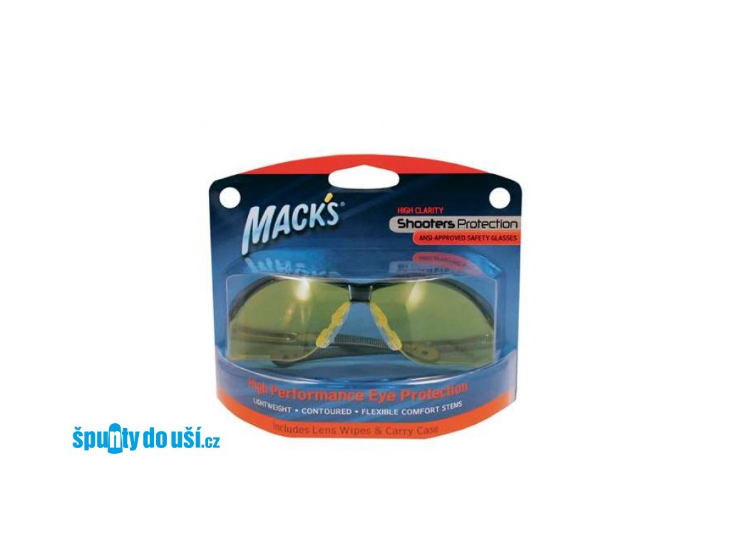 Mack's ochranné brýle - žluté  Brýle Mack's žluté