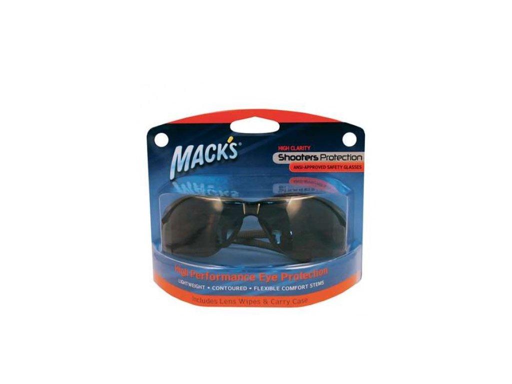 Mack's ochranné brýle - šedé  Brýle Mack's šedé-kouřové