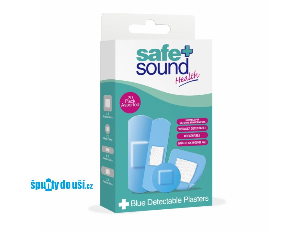 safe sound modre naplasti