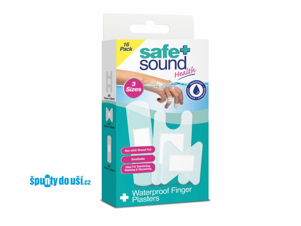 safe sound vodeodolne naplasti na prsty
