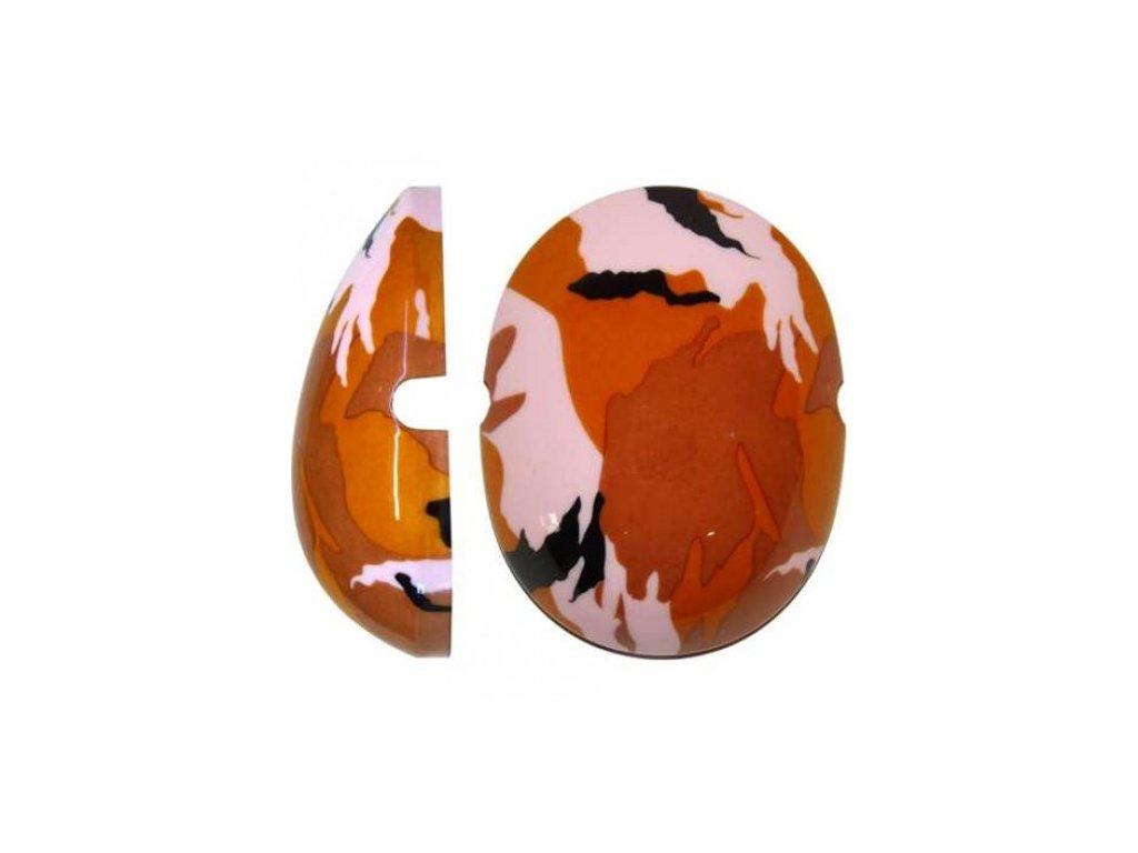 Krytky na dětské chrániče sluchu - maskáčová hněo/růžová  Edz Capz Camo hnědo-růžová