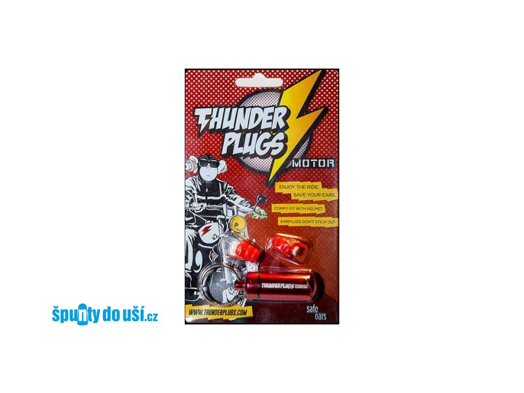 Thunderplugs Motor špunty do uší na motorku  Thunderplugs Motor