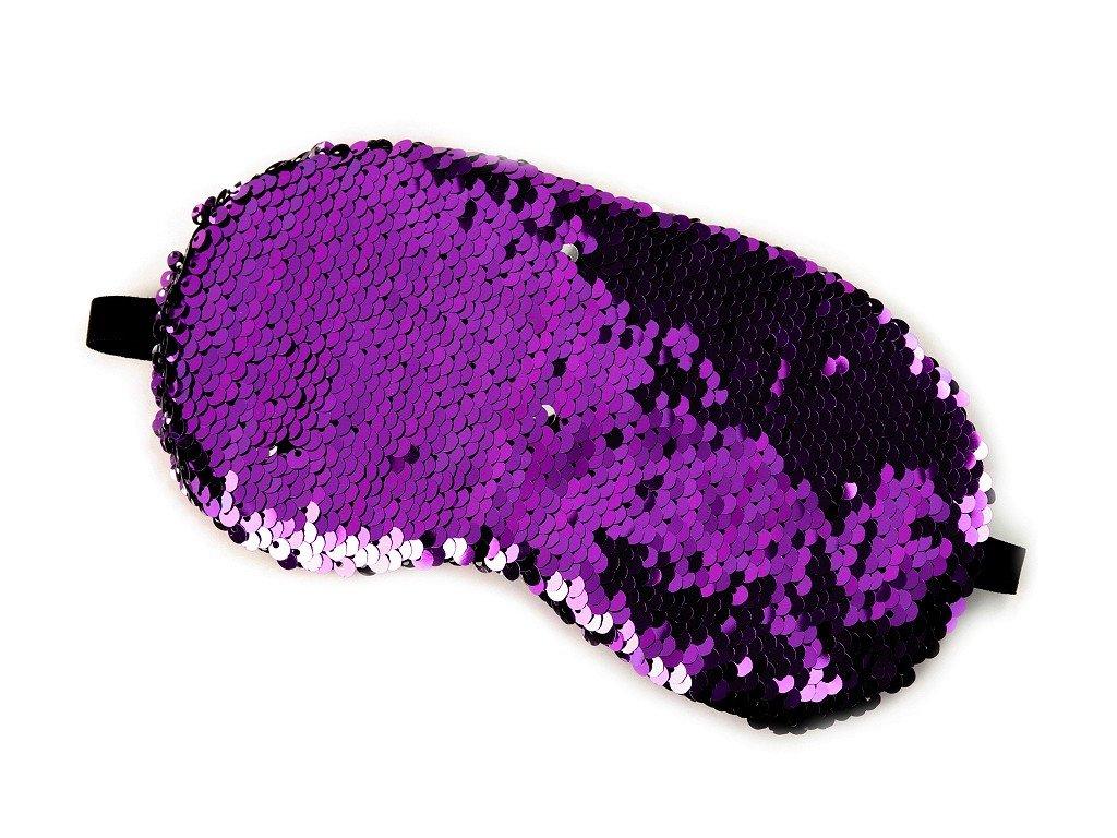 flitrova maska na spani fialova