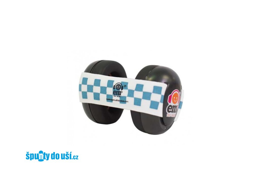 Em's 4 Bubs - chrániče sluchu pro batolata modrá/bílá  Ems černo - zeleno/modré