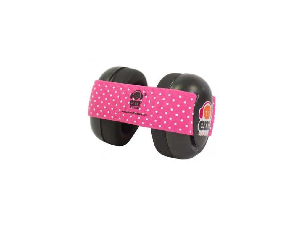 Em's 4 Bubs - chrániče sluchu pro batolata  růžová/černá  Ems černo - růžové