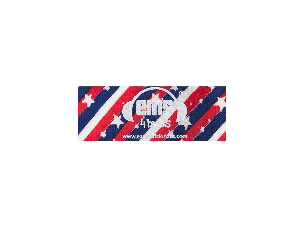 Čelenka k chráničům sluchu pro batolata - US vlajka  Ems čelenka US flag