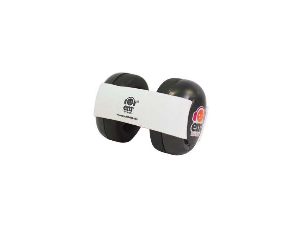 Em's 4 Bubs - chrániče sluchu pro batolata černá - bílá  Ems černo - bílé