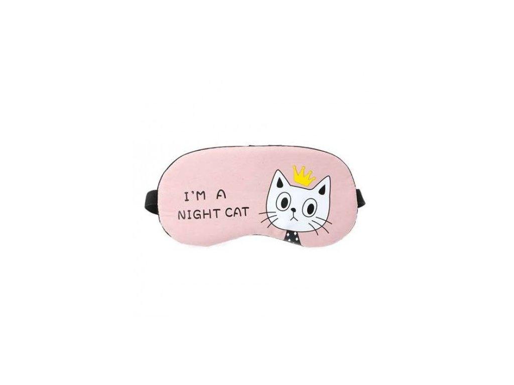 Maska na spaní CAT - růžová  Maska CAT růžová
