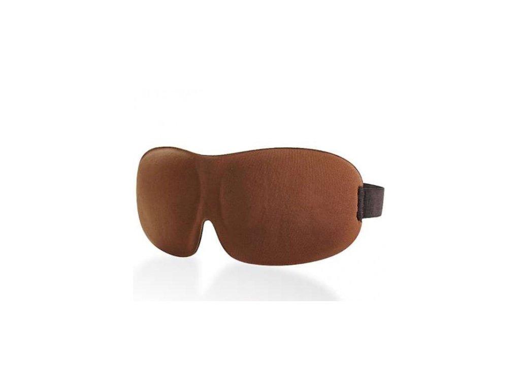 3D Premium Maska na spaní  - hnědá  Maska 3D premium hnědá