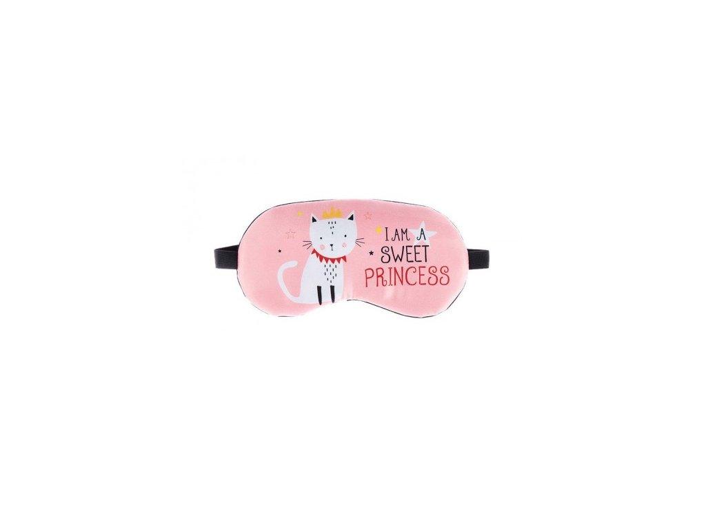 Maska na spaní - Princess růžová  Maska - Princess růžová