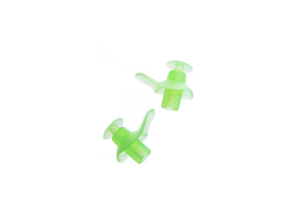 Zoggs dětské špunty do uší na plavání zelené  Zoggs Aqua zelená
