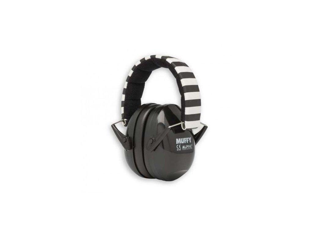 Alpine Muffy dětské chrániče sluchu černé  Alpine Muffy černé