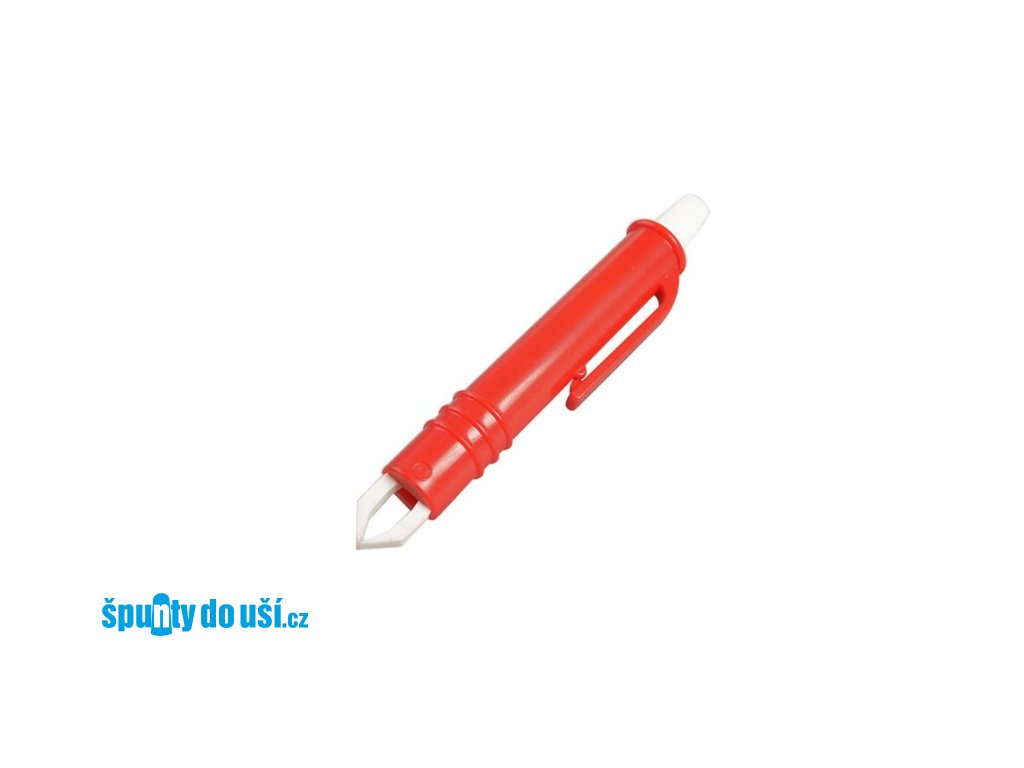 pinzeta plastova na klistata cervena