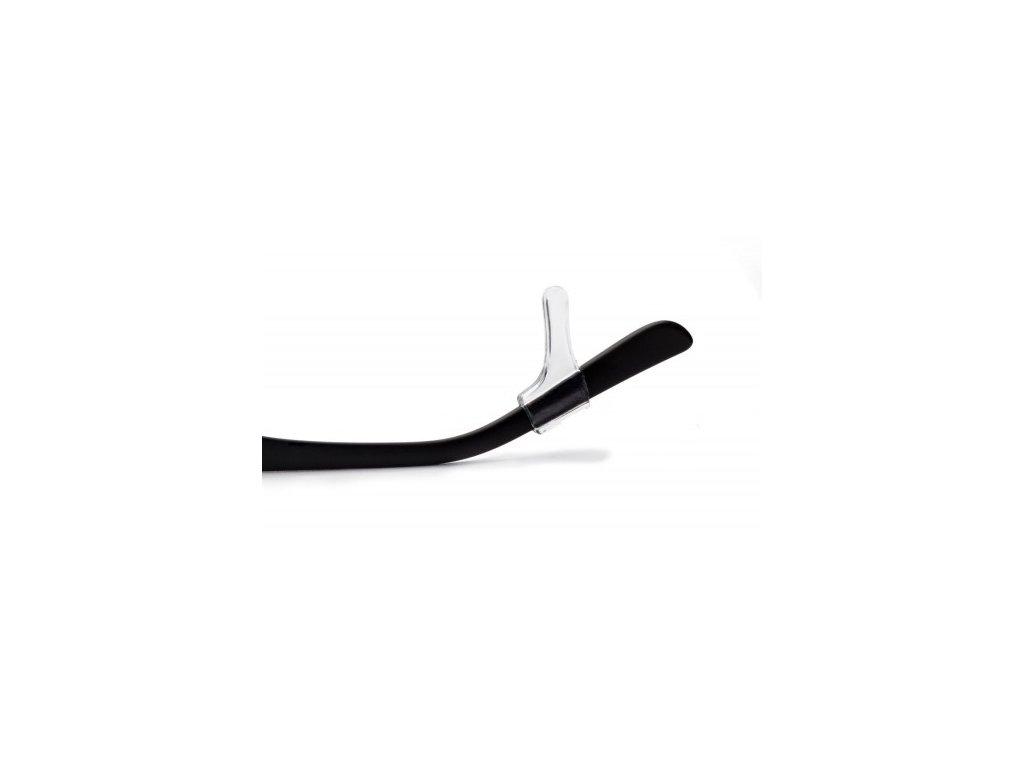 Háčky - silikonové koncovky na brýle  Háčky čiré Tubba SM