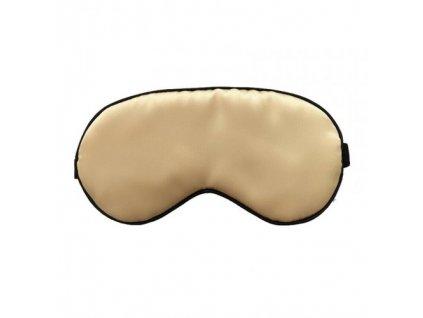 Maska na spaní hedvábná - Zlatá  Maska Silk zlatá