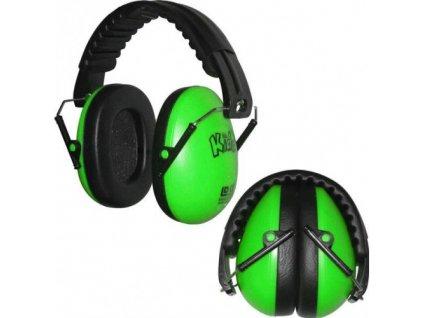 Dětské chrániče sluchu Edz Kidz - zelené  Sluchátka EdzKidz - zelené