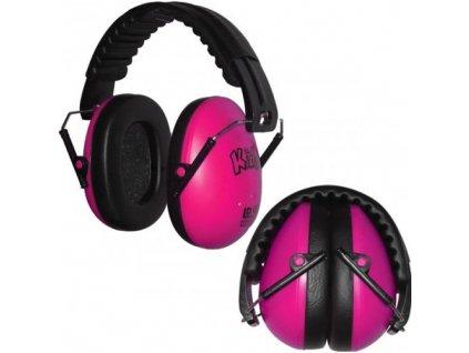 Dětské chrániče sluchu Edz Kidz - růžové  Sluchátka EdzKidz - růžové