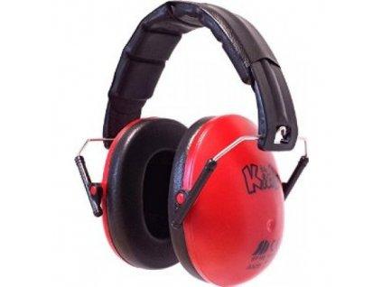 Dětské chrániče sluchu Edz Kidz - červené  Sluchátka EdzKidz - červené
