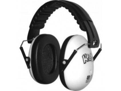 Dětské chrániče sluchu Edz Kidz  - bílé  Sluchátka EdzKidz - bílá
