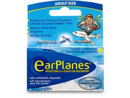 Cirrus Earplanes špunty do uší do letadla  EarPlanes ucpávky